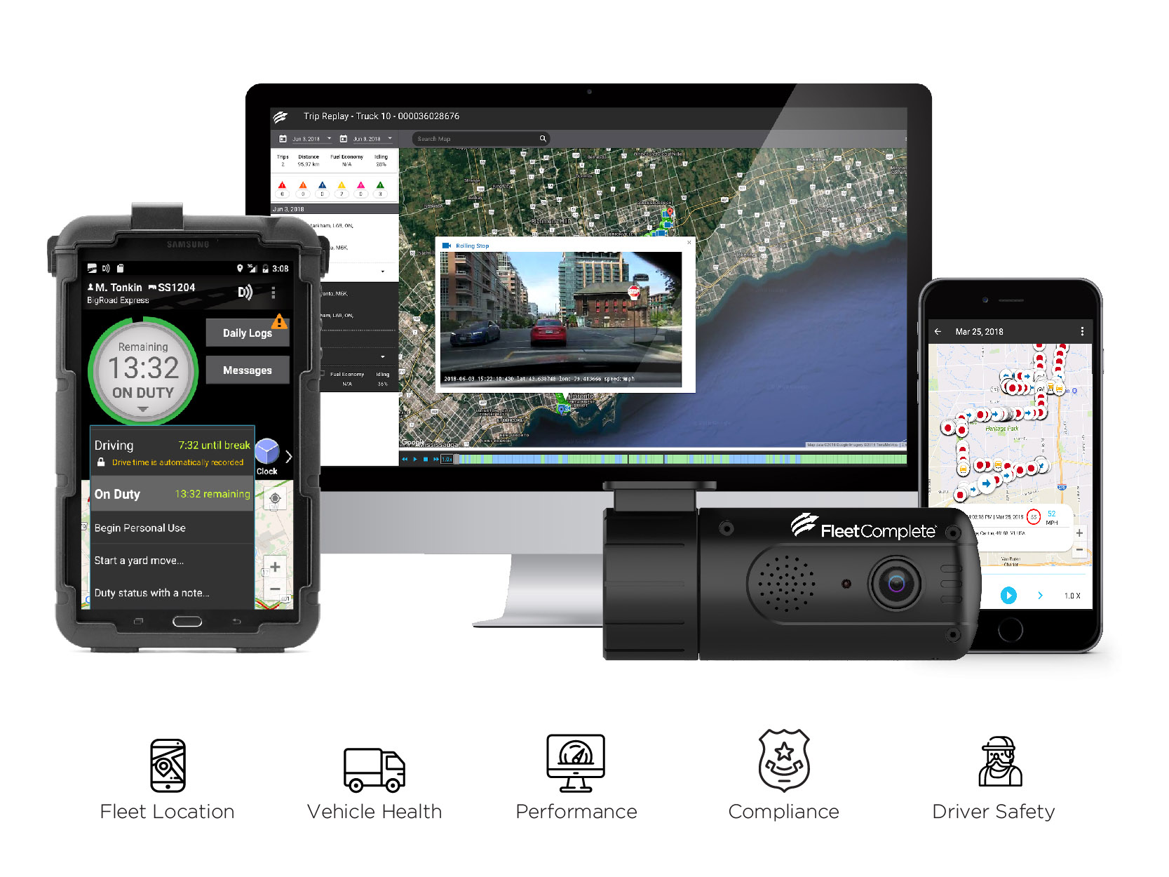 The Ultimate Bundle includes GPS, Dashcam, ELD, web and mobile app